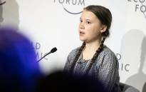 Swedish climate activist Greta Thunberg speaking at the session 'Preparing for Climate Disruption' at the World Economic Forum in Davos on 25 January 2019. Picture: World Economic Forum