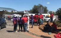 Striking South African Airways (SAA) workers outside the firm's Airways Park office on 15 November 2019. Picture: Bonga Dulane/EWN.