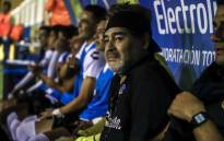 FILE: Argentine legend Diego Maradona, coach of Mexican second-division club Dorados, looks on during a football match against Venados de Merida, in Culiacan, Sinaloa State, Mexico, on 5 April 2019. Picture: AFP