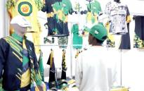 ANC apparel at the party's pavilion at the Rand Show on 19 April 2019.Picture: Bonga Dlulane/EWN