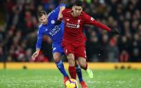 Liverpool forward Roberto Firminho contends with his Leicester City opponent during their English Premier League match at Anfield on 30 January 2019. Picture: @LFC/Twitter