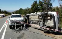 One person was killed following a head-on collision on the Robinson Pass between Oudtshoorn and Mossel Bay on 3 January 2019. Picture: @_ArriveAlive