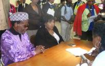 FILE: IFP leader Mangosuthu Buthelezi and his wife Irene at a polling station near Ulundi where they voted. Picture: EWN