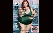 The Cosmopolitan UK cover that features plus-size model Tess Holliday as its October cover-girl. Picture: Screengrab.