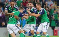 Northern Ireland made sure of a top two finish in their World Cup qualifying group with a 2-0 win over Czech Republic . Picture: Twitter/@NorthernIreland