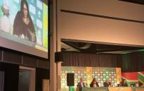 CSA's Independent Director and Transformation chair Dr Eugenia Kula-Ameyaw speaks during the launch of the Cricket for Social Justice and Nation Building (SJN) system on 28 August 2020. Picture: @OfficialCSA/Twitter