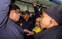 Transport Minister Fikile Mbalula on a train with Khayelitsha commuters on Tuesday morning, 25 June 2019. Picture: @MbalulaFikile/Twitter