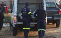 Forensic Pathology Services load little Khomanani Mawa's body into their vehicle after it was retrieved from the Evaton sewerage system on 8 September 2021. Mawa fell into a manhole near his Orange Farm home on 5 September 2021. Picture: Edwin Ntshidi/Eyewitness News
