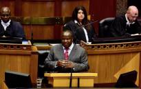 Finance Minister Tito Mboweni delivers the 2018 Medium Term Budget Policy Statement in Parliament on 24 October 2018. Picture: GCIS