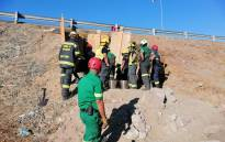 The Western Cape Government's EMS Rescue team responded to an incident on the corners of Borcherds Quarry on the ramp next to the N2, Nyanga, at the side of the bridge on Monday, 8 February.  Picture: Supplied
