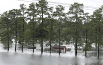 Flooding is seen near Interstate Highway 95 in Lumberton, North Carolina on 16 September 2018. Picture: AFP