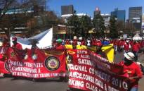 FILE: Satawu members at a demonstration: Picture: EWN.