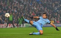 FILE: Manchester City's Argentinian striker Sergio Aguero shoots at goal during the UEFA Champions League Group E football match between Manchester City and CSKA Moscow. Picture: AFP.