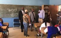 Tshwane Mayor Solly Msimanga visits the Klipspruit West High School on 9 January 2019. Picture: @SollyMsimanga/Twitter