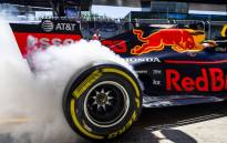 A Honda-powered Aston Martin Red Bull Racing F1 car. Picture: @redbullracing/Twitter