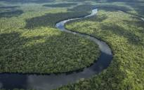 An aerial view of the Salonga National Park in the Democratic Republic of Congo. Picture: @African_WH_Fund/Twitter