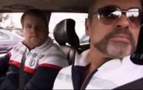 James Corden and George Michael on Carpool Karaoke. Picture: YouTube screengrab.