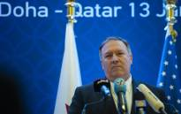 FILE: US Secretary of State Mike Pompeo holds a joint press conference with Deputy Prime Minister and Minister of Foreign Affairs Sheikh Mohammed bin Abdulrahman Al-Thani (not pictured) at the Sheraton Grand in the Qatqri cqpitql Doha on 13 January 2019. Picture: AFP