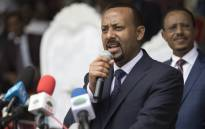 FILE: Ethiopia's new Prime Minister Abiy Ahmed delivers a speech during a rally in Ambo, about 120km west of Addis Ababa, Ethiopia, on 11 April 2018. Picture: AFP