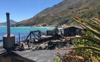 A view of the damage caused by a fire at Tintswalo Atlantic lodge. Picture: @TintswaloAtlantic/Facebook.com.