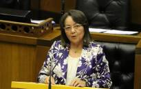 FILE: Minister of Public Works and Infrastructure Patricia de Lille tabling in Parliament. Picture: @DepPublicWorks/Twitter.