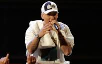 A video screengrab of Eminem performing. Picture: CNN