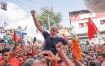 FILE: Brazil's former President Luiz Lula da Silva greeting fans. Picture: Ricardo Stuckert via @LulapeloBrasil/Twitter.