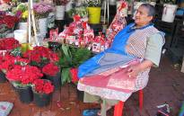 A flower vendor from Adderley Street, in Cape Town. Picture: Lauren Isaacs/Eyewitness News.