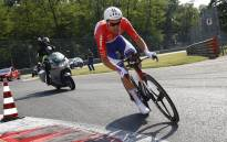 Netherlands' Tom Dumoulin of team Sunweb competes during the Individual time-trial between Monza and Milan on the last stage of the 100th Giro d'Italia, Tour of Italy, cycling race, on 28 May, 2017 in Monza. Picture: AFP