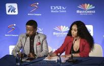 Thokozane Nkosi (L) and Thobile Ngwato (R) are the owners of NewzRoom Afrika. Picture Sethembiso Zulu/EWN