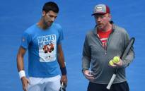FILE: Novak Djokovic (left) and his former coach Boris Becker. Picture: AFP.