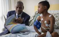 Health Minister Zweli Mkhize visited the Nelson Mandela Children's Hospital as part of his 67 minutes on Mandela Day. Picture: Abigail Javier/EWN