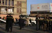 Iraqi security forces cordon off the area where a double suicide bombing killed more than 20 people in central Baghdad on 15 January, 2018, the second such attack in the Iraqi capital in three days. Picture: AFP