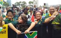 Fans await the arrival of the Springboks on the Grand Parade in Cape Town on 11 November 2019. Picture: Ayanda Felem/EWN