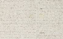 A screengrab of the Jane Austen letter. Picture: www.sothebys.com