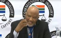 A screengrab of former deputy Finance Minister Mcebisi Jonas at the state capture inquiry on 15 March 2019.