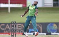 South Africa's Lutho Sipamla delivers a ball during the third one-day international (ODI) cricket match between South Africa and Pakistan at SuperSport Park in Centurion on 7 April 2021. Picture: Phill Magakoe/AFP