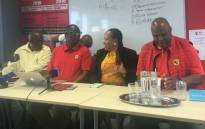 Former Cosatu general secretary Zwelinzima Vavi briefed the media about the status of the new labour organisation. Picture: Clement Manyathela/EWN.