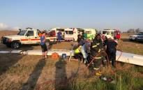 Two men were killed on Monday night 2 December 2019 when their glider crashed near the Plettenberg Bay Airport. Picture: @bitoulocalmunicipality/Facebook