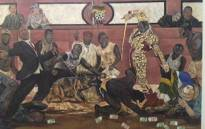 Ayanda Mabulu's Yakhal'inkomo, which was briefly removed from display at the FNB Joburg Art Fair 2013. Picture: City Press