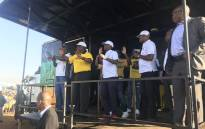 President Cyril Ramaphosa campaign in Mamelodi in Tshwane on 2 May 2019. Picture: EWN.