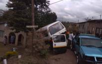 Twenty-three children were left injured on Friday afternoon following a taxi collision on Mosiea Road in Klaarwater, KwaZulu Natal. Picture: Twitter/@ER24EMS
