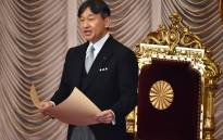 "Japan's Emperor Naruhito delivers a speech at the opening ceremony of an ""Extraordinary Diet"" session in Tokyo on 1 August 2019. Picture: AFP"