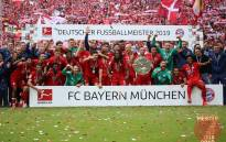 FILE: Bayern Munich celebrate with the trophy after winning the Bundesliga on 18 May 2019. Picture:  @FCBayernEN/Twitter