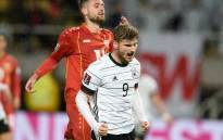 Germany's Timo Werner celebrates a goal  over North Macedonia during their World Cup qualifier on 11 October 2021. Picture: @EURO2024/Twitter