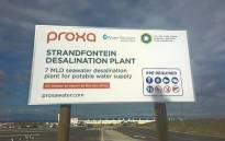 The desalination plant under construction at Strandfontein. Picture: Zunaid Ismael/EWN