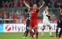 Bayern Munich's Arjen Robben celebrates after his team won against Manchester United in the Champions League on 9 April 2014. Picture: Facebook.