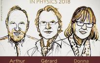 The 2018 Physics Nobel Prize winners: Arthur Ashkin, Gerard Mourou and Donna Strickland. Picture: Twitter.com/NobelPrize