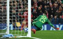Liverpool's Mohammed Salah scores past Napoli goalkeeper David Ospina during their UEFA Champions League match at Anfield, Liverpool on 11 December 2018. Picture: @LFC/Twitter