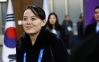 In this file picture taken on 9 February 2018, Kim Yo Jong, sister of North Korea's leader Kim Jong Un, arrives for the opening ceremony of the Pyeongchang 2018 Winter Olympic Games at the Pyeongchang Stadium. Picture: PATRICK SEMANSKY/POOL/AFP